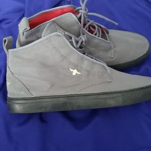 Mens size 10.5 grey creative recreation shoes.